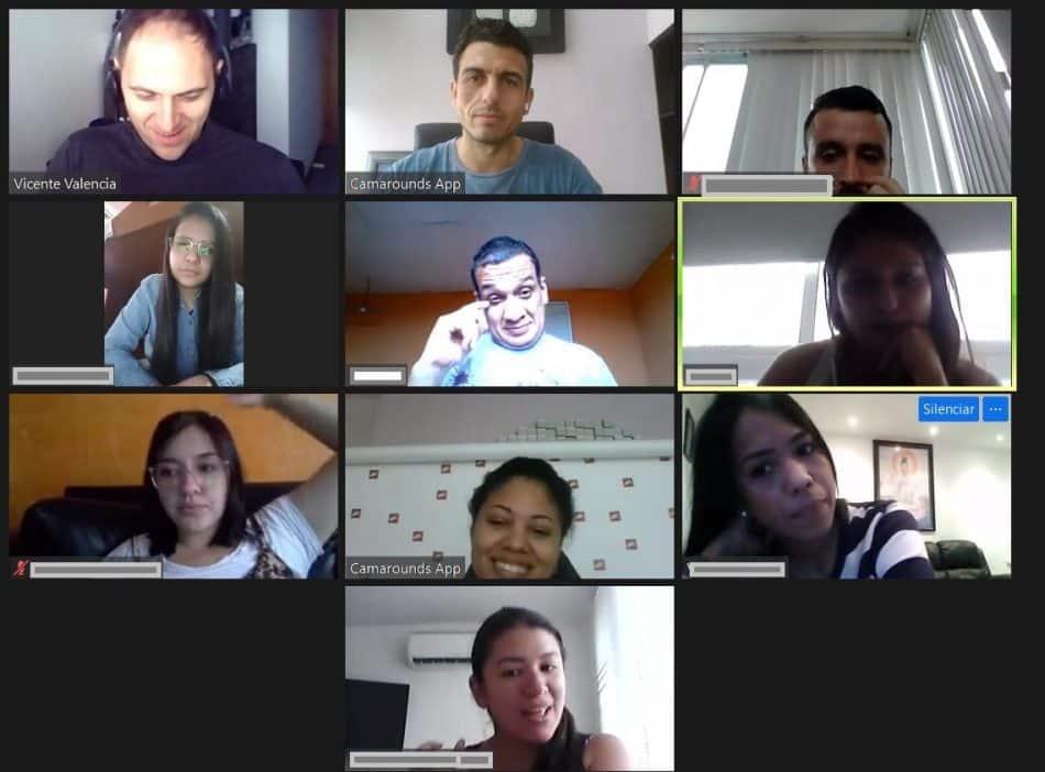 Equipo de Camarounds en otra videoconferencia