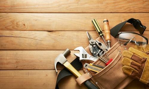 Herramientas de un handyman profesional