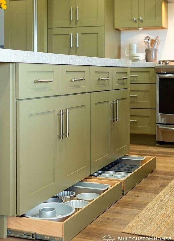 Muebles de cocina con cajones secretos