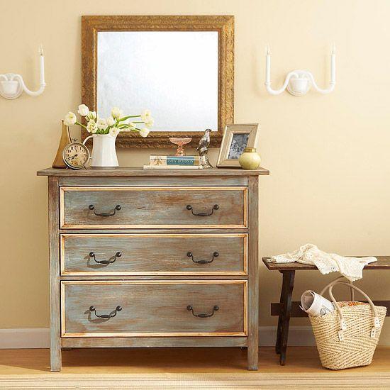 Una idea para la restauración de tus muebles: degradados y envejecidos