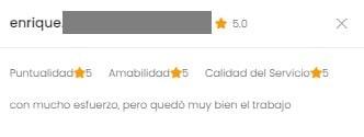 Humberto - Calificación 5 Estrellas en la App de Camarounds