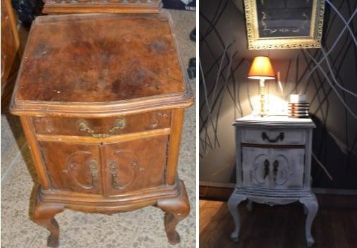 Restauración de muebles - Mesita de noche