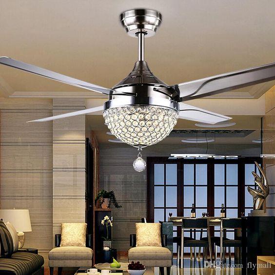 Abanico de techo lámpara de lujo