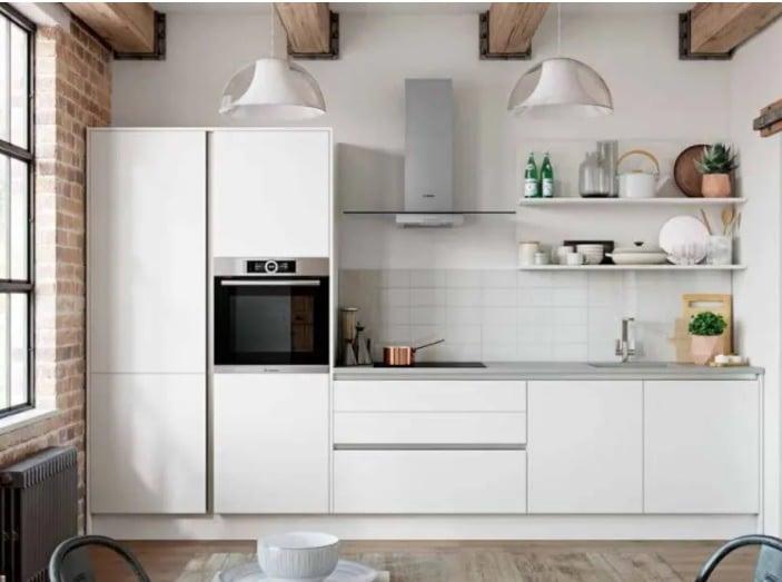 Elección de muebles para una cocina en línea