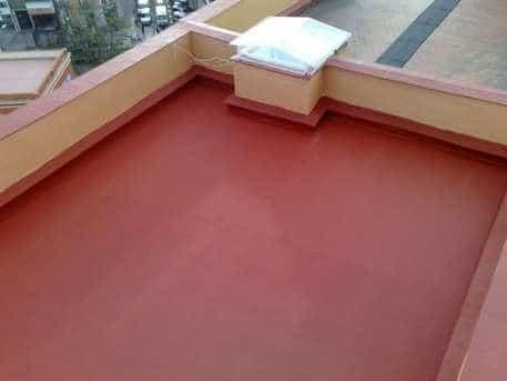 Trabajo de impermeabilización de una terraza