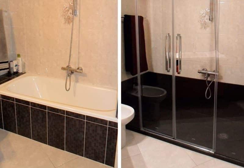 Cambio de bañera por plato de ducha – Una reforma sencilla, práctica y elegante