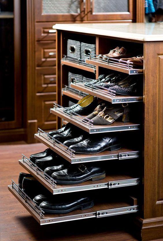 Ordenar zapatos en closets a medida